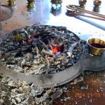 定例護摩焚きの儀式の様子