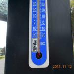 涅槃堂前の気温(午前)
