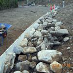 石垣の補強