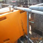 貯水槽のバルブを閉めました