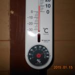 お堂内の温度計