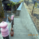 清掃後の階段