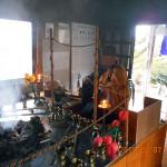 護摩堂(儀式)の様子
