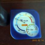 本堂内の温度・湿度計