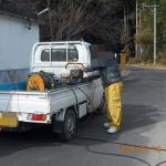 排水詰まりの補修の様子