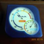 午前中の本堂の気温