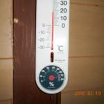 午前中の蛇堂の気温