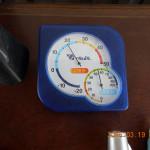 午後の本堂の気温