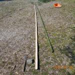 竹柵修繕の様子