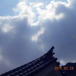 本堂の上空