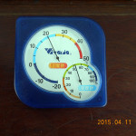 本堂内の気温(10時19分)