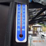 涅槃池の周辺気温(10時20分)