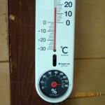 蛇堂内の気温(10時27分)