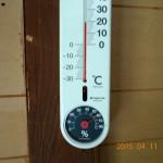 蛇堂内の気温(12時35分)