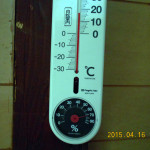 蛇堂前の気温(午後4時半頃)