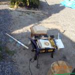柴燈護摩供の準備