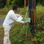 般若寺への案内標識、張替