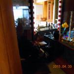 護摩堂の清掃の様子