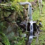 境内の様子(山水流量確認)
