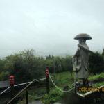本堂からの景色(台風通過後)