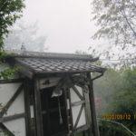 境内の様子(台風通過後)