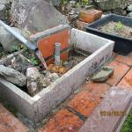 水系の改修作業の様子