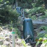 境内の水系配管確認