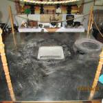 護摩堂の清掃