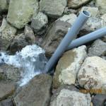 大池の流量調整