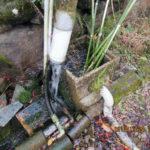 山水の水量の確認