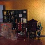 本堂内の整理
