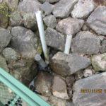 大池の水位調整