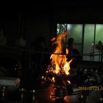護摩供養祈願祭の様子