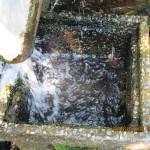 山水の流量確認