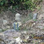 石周辺の整備