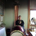 護摩供養の様子(護摩堂)