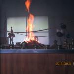 定例護摩焚きの様子