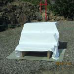 準備の様子(木製飾り壇)