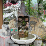 手水鉢の様子