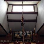 補修済みの白蛇明神堂