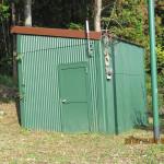 理学部地震計の入った小屋
