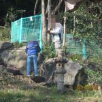 ホタル池の柵の調査
