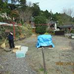 柴燈護摩供養の準備
