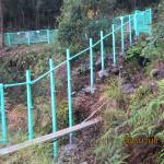 柵補修の様子