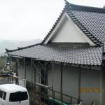 屋根補修の様子
