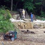 新護摩壇の洗浄