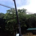 防災井戸の法面工事