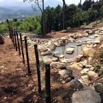 大池の安全柵
