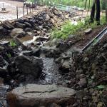 大池への水路