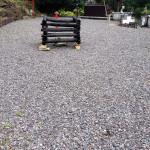草取り後の護摩壇